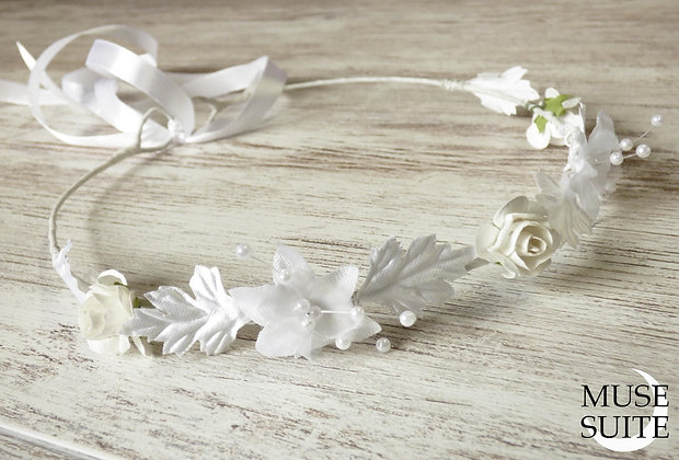 Bride Circlets - Bridal Diadem - Wedding Tiara - White crown - Model3