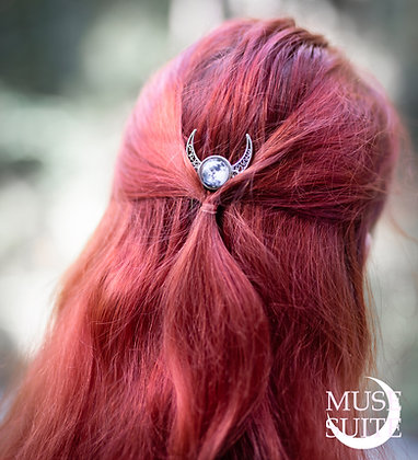 Crescent moon+full moon Haircomb - Goddessy Serie