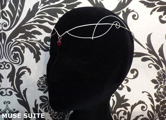 Elven tiara - Elf crown Unisex - Sterling Silver with swarovski crystal