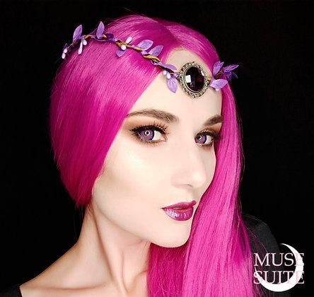 Elf crown/Dif.Colours/ cosplay accessories branch circlet with cameo