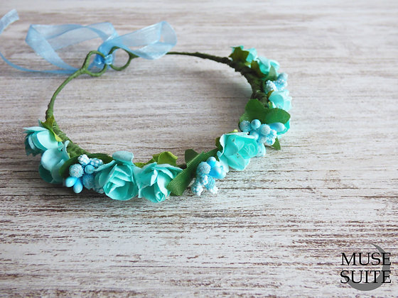 Baby Crowns turquoise blue - Tiaras for babies - Baby diadem -babie's c