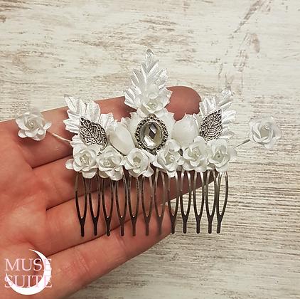 Fantasy Haircomb, victorian Bride's hair accessory, fantasy wedding