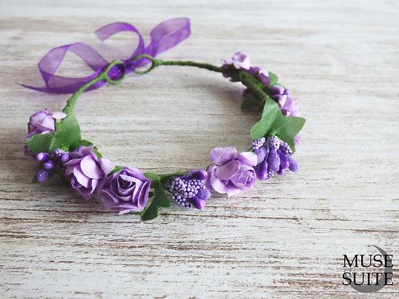 Light Purple Violet Baby Crown - Tiaras for babies - Lavender Baby diadem