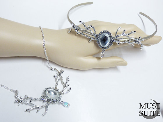 Winter is Coming SET of Branch tiara + Branch Necklace - inspiration GOT