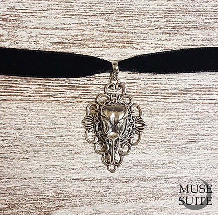 Wholesale - Bird Skull Frame Choker -Witchy Line, Gothic Witch Serie