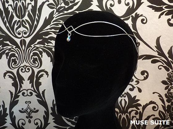 Elven tiara - Elf crown Unisex - Sterling Silver with swarovski crystals