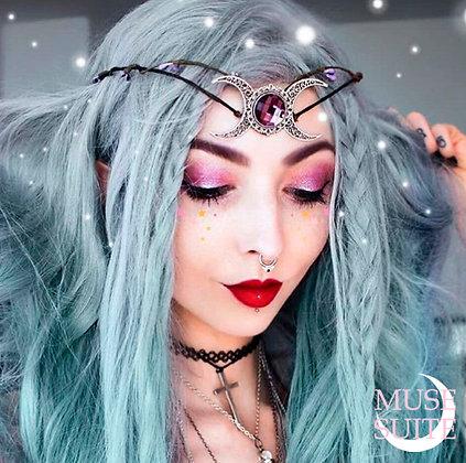 Triplemoon crown/Dif.Colour/ triplegoddess tiara - triple moon goddess circlet