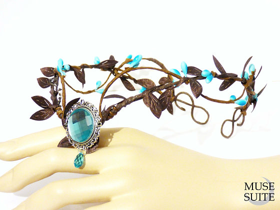 Fairy crown - Fancy tiara - cosplay accessories -branch circlet with came