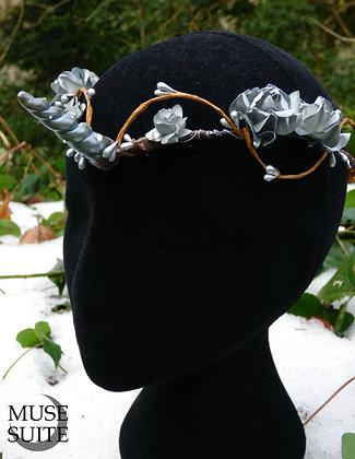 Unicorn horn tiara - silver - crown - fantasy diadem - fancy circlet - unicorns