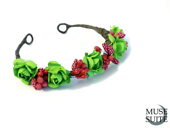 Green and Red Cat Crown - Diadem for cats (and littledogs)