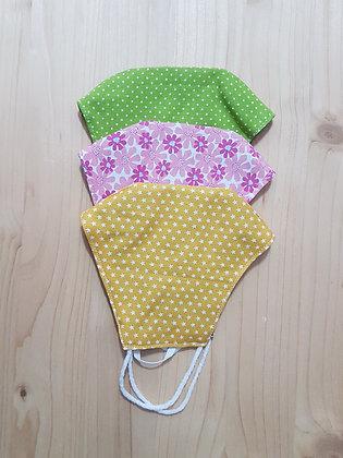 Set 3 MASKS, 100% Cotton Fabric - Free Shipping SET 16