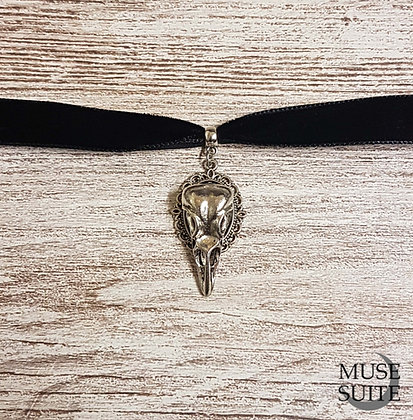 Wholesale - Bird Skull Cameo Choker - Witchy Line, Gothic Witch Serie