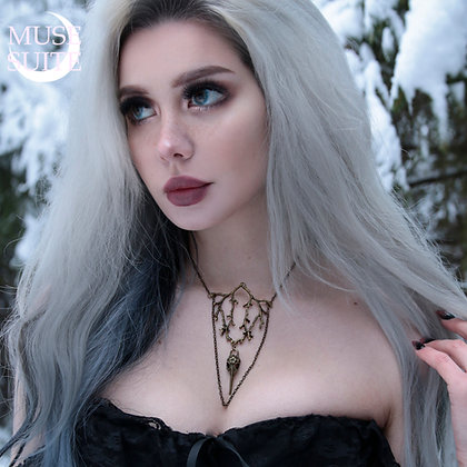 Wholesale - Bronze Crow & Branch SET- Witchy Line,Gothic Witch Serie