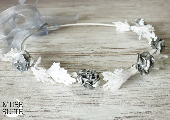Bride Circlets - Bridal Diadem - Wedding Tiara - White crown - Model1