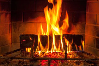 Image result for Yule log with flames