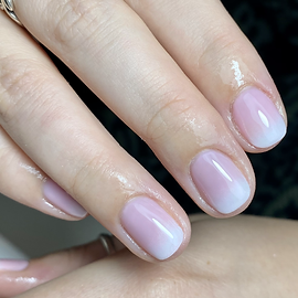 french ombre gel nails