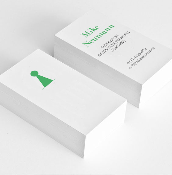 Layout Visitenkarte für Studio Fucs