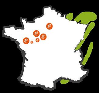 Map Goutologie France Nantes Le Mans Laval Paris