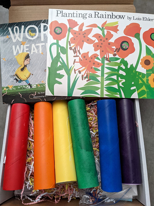 April Curriculum Box: Raindrops and Rainbows
