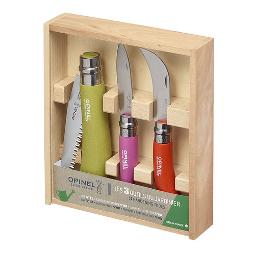 Opinel Stainless Steel Garden Knife Trio