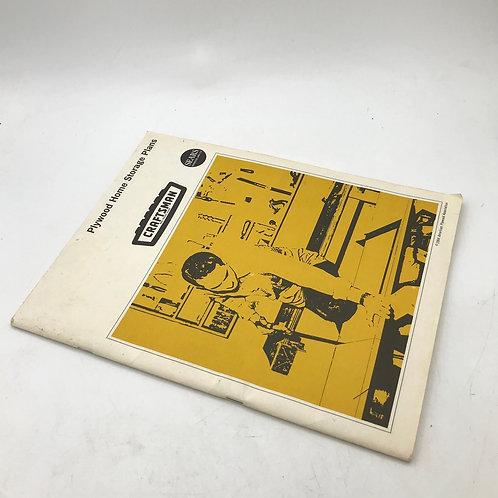 Vintage American Plywood Association Home Storage Plans Booklet
