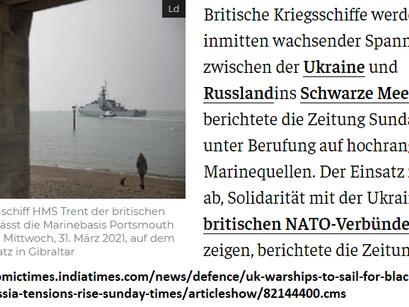 NATO-Bedrohung im Schwarzen Meer: Statt durch US-Amerikanische jetzt durch britische Kriegsschiffe