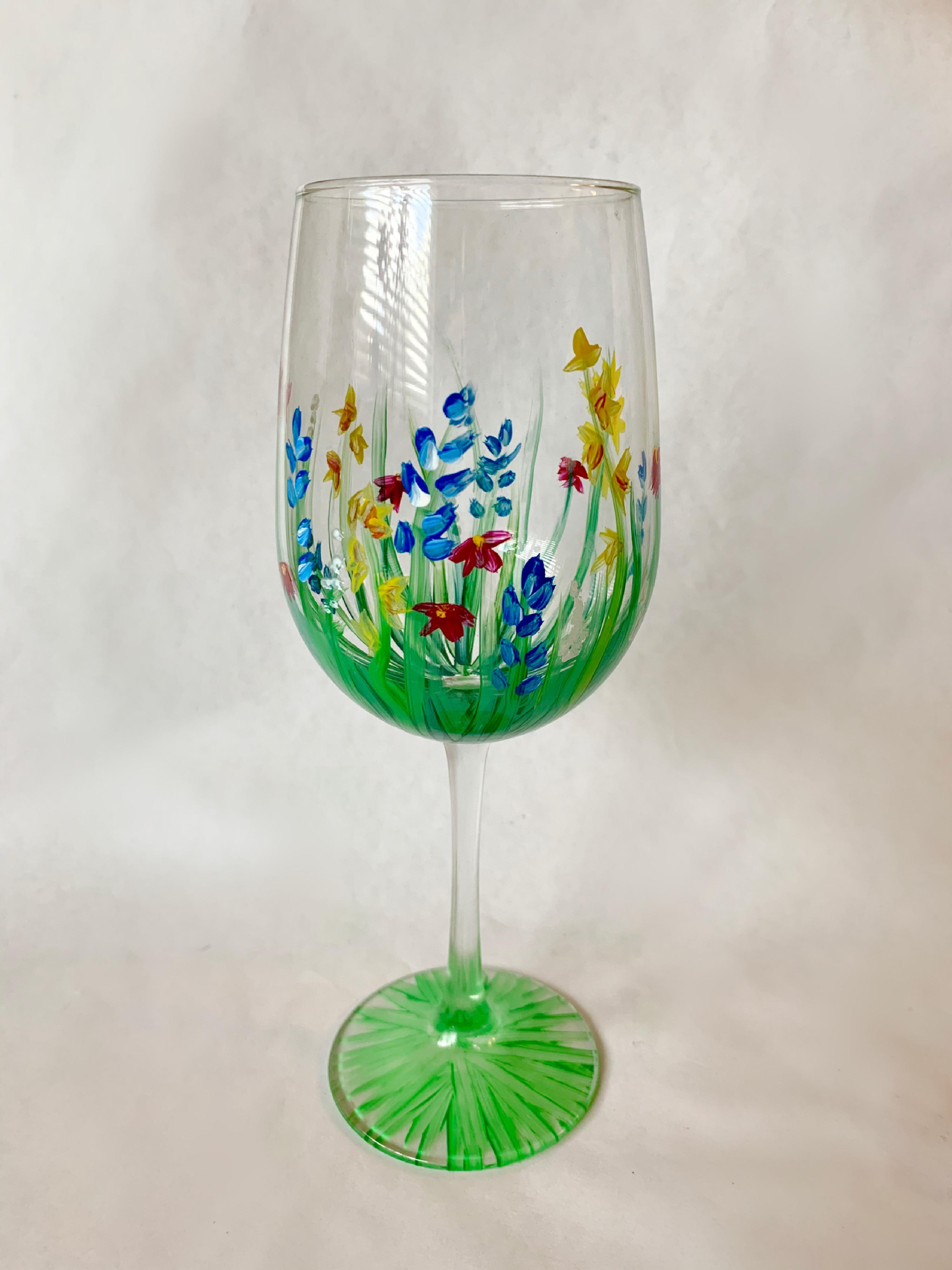 Floral Wine Glass Paint Kit