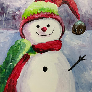 Snowman with Bell