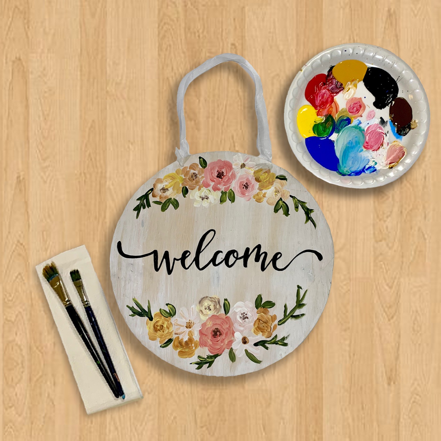 Welcome Wooden Sign Kit