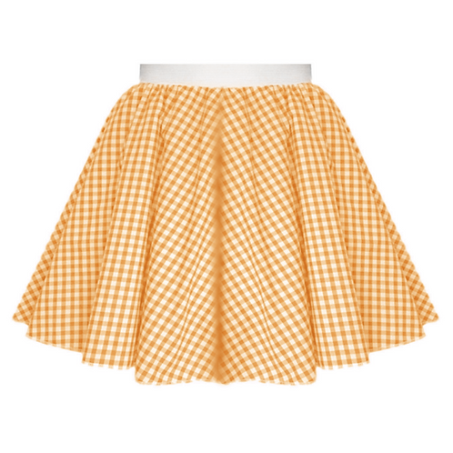 IC380 Orange Gingham Skirt