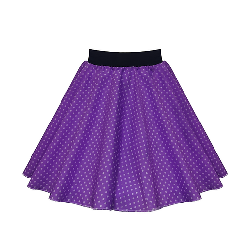 IC269 Purple Small Spot Skirt