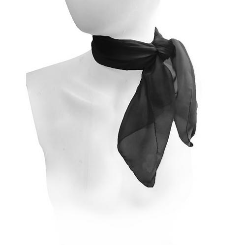 Black 1950's Style Chiffon Neck Scarf