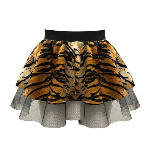 IC218 Tiger Print Tutu Skirt