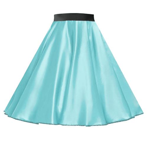 IC272 Satin Rock N Roll Skirt Mint