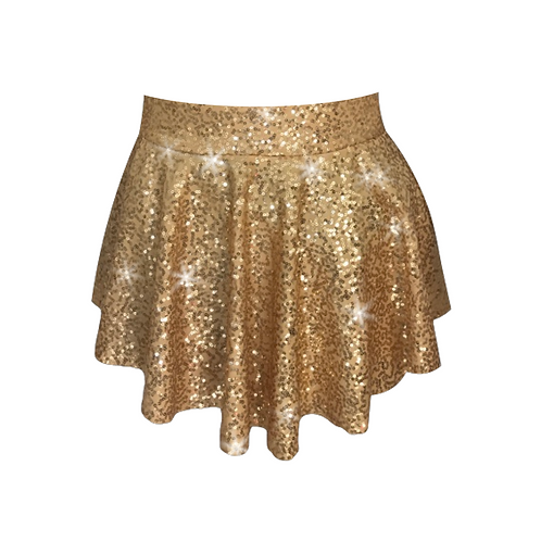 IC318 Gold Sequin Pointe Skirt