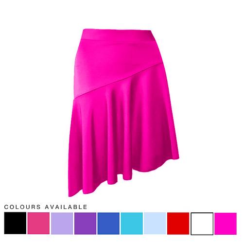 IC184 Asymmetric Latin Skirt