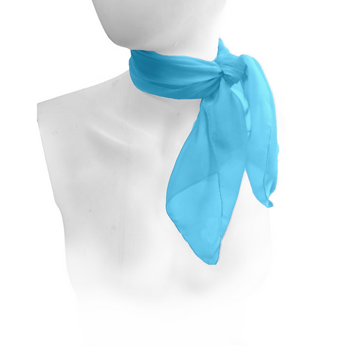 Kingfisher Blue 1950's Style Chiffon Neck Scarf