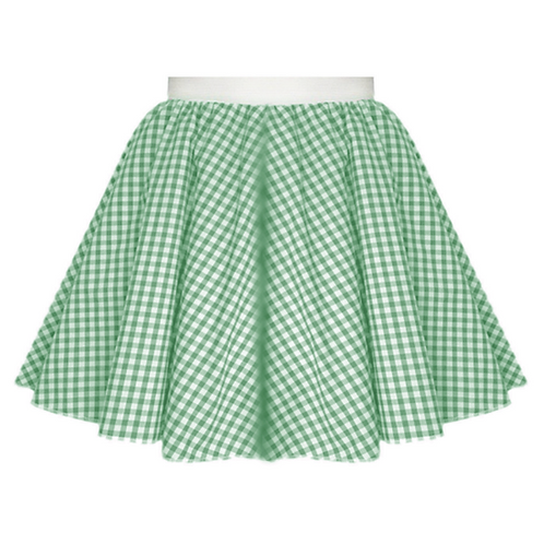 IC380 Green Gingham Skirt