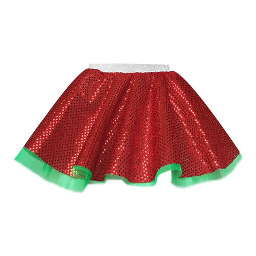 IC238 Red Sequin and Green Skirt