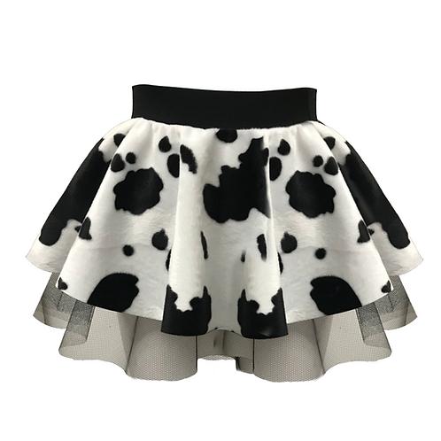 IC230 Cow Print Tutu Skirt