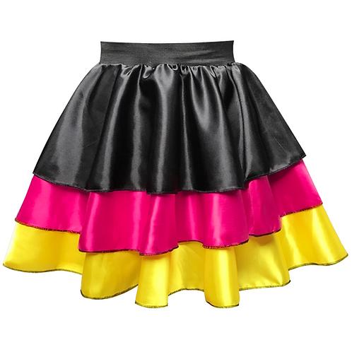 IC257 Fiesta Satin Tier Skirt