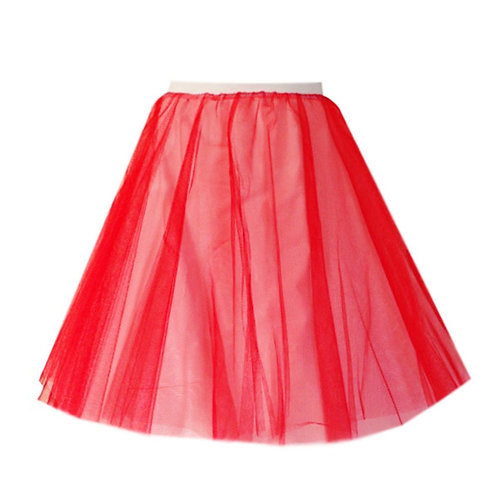 IC310 Red Two Layer Underskirt