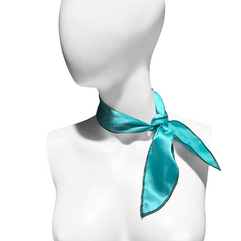 IC266 1950's Mint Satin Neck Scarf