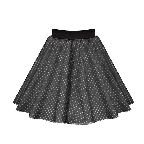 IC269 Black Small Spot Skirt