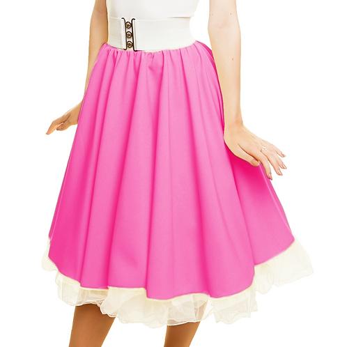 Cerise Pink Rock N Roll Skirt