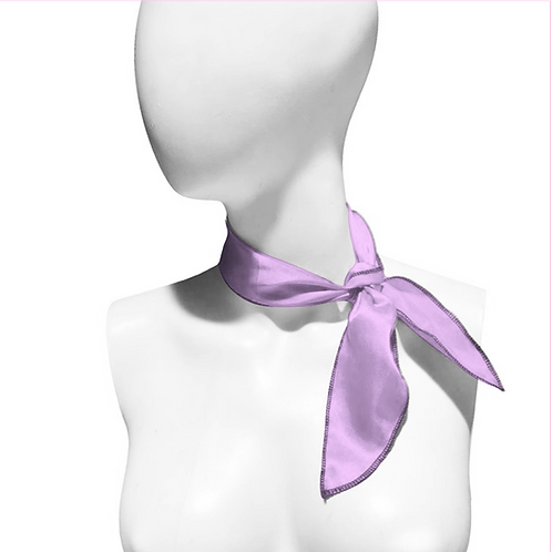 IC266 1950's Lilac Satin Neck Scarf