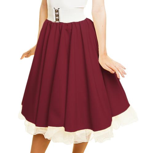 Girls Burgundy Rock n Roll Skirt