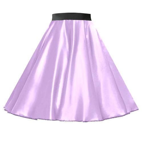 Satin Rock n Roll Skirt Lilac