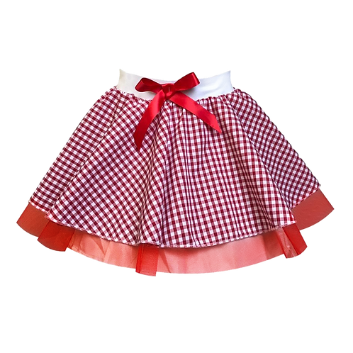 IC105 LITTLE RED SKIRT
