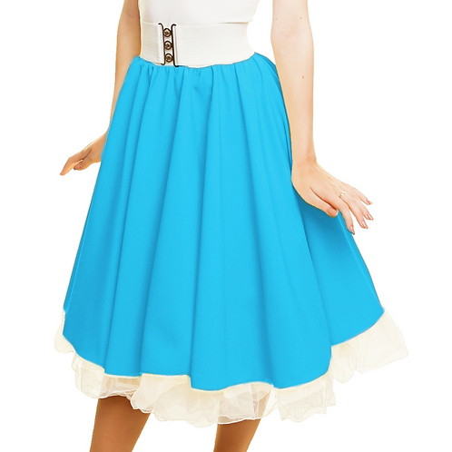 Turquoise rock n roll costume skirt